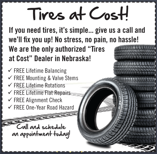 Tires at cost | Yeck's Tire & Auto