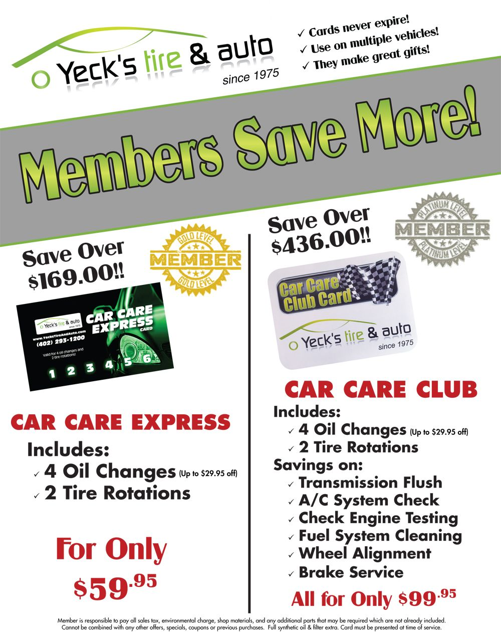 Car Care Club | Yeck's Tire & Auto